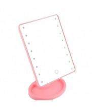 Зеркало косметическое для макияжа с подсветкой на подставке ЗМ-Р